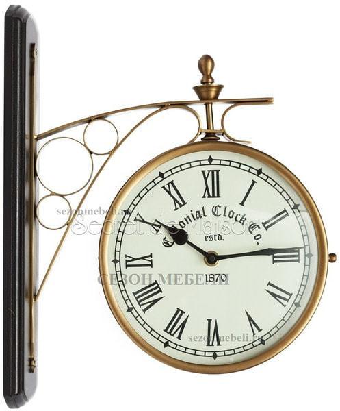 Часы cтанционные с двумя циферблатами Secret de Maison (mod. 37049) (фото)