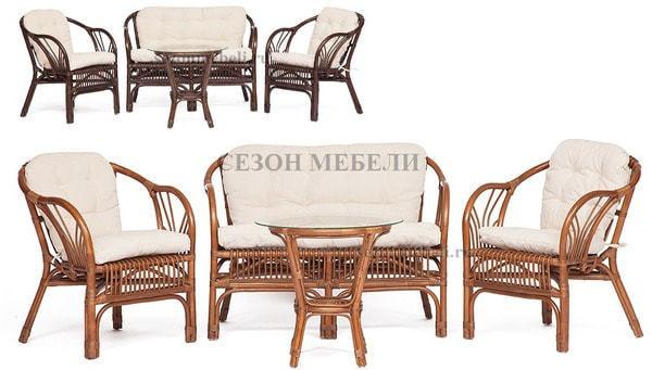 Комплект для отдыха New Bogota (диван + 2 кресла + стол со стеклом) (фото)