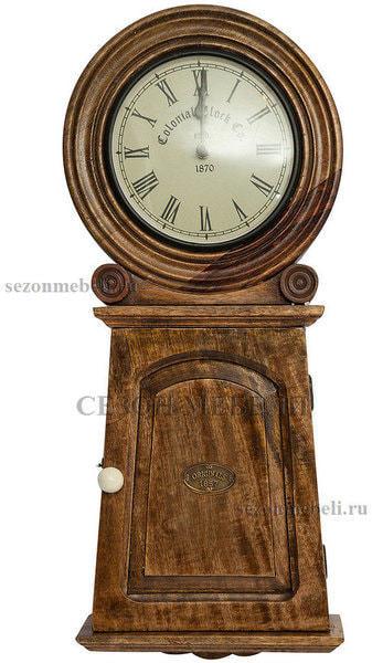 Часы колониальные с ключницей C-2632 (фото)