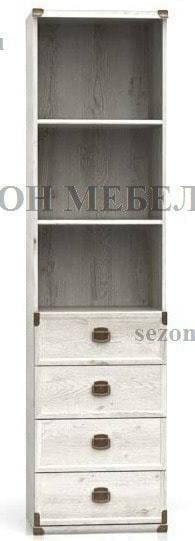 Стеллаж Индиана JREG 4so/50 сосна каньйон (фото)