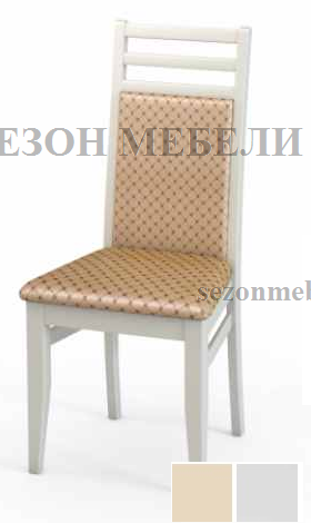 Стул М12 белая эмаль ткань 39 (фото)