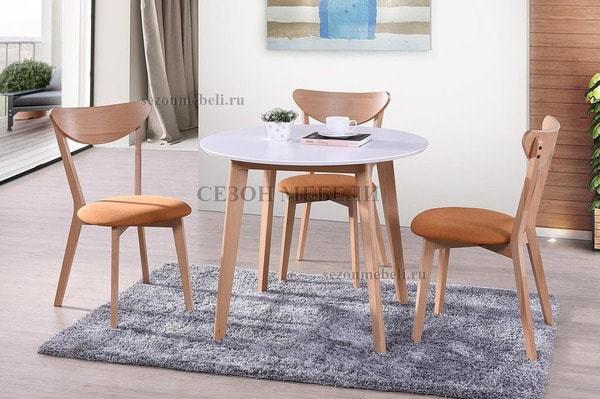 Обеденная группа (стол Bosco и стулья Maxi) натуральный (фото)