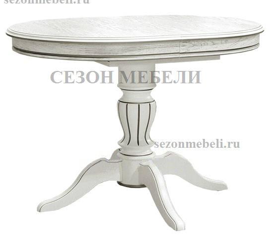 Стол Альт-2 ЛАЙТ белая эмаль с серебряной патиной (фото)