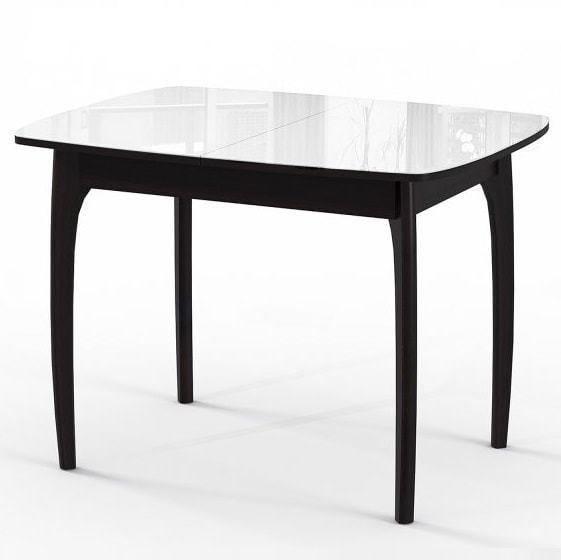 Стол М15 ДН4 венге/стекло белое (фото)