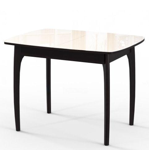 Стол М15 ДН4 венге/стекло бежевое (фото)