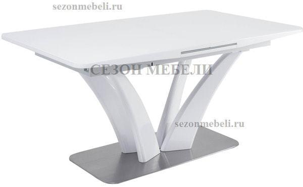 Стол FREYA 160 WHITE GLASS белый глянец (фото)