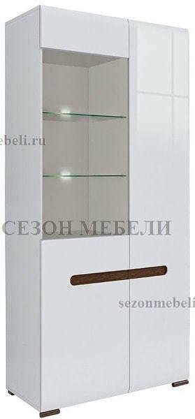 Шкаф Ацтека REG1W1D/21/9 белый/белый блеск (фото)