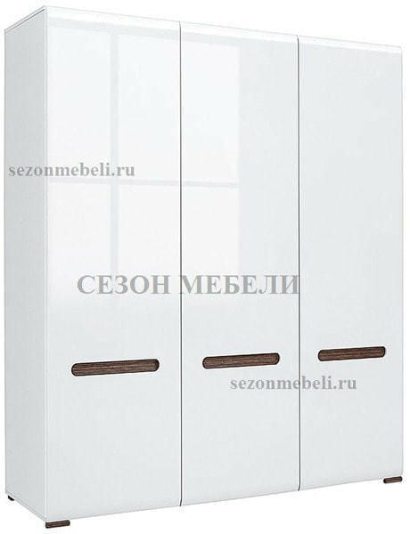 Шкаф Ацтека SZF3D/21/18 белый/белый блеск (фото)