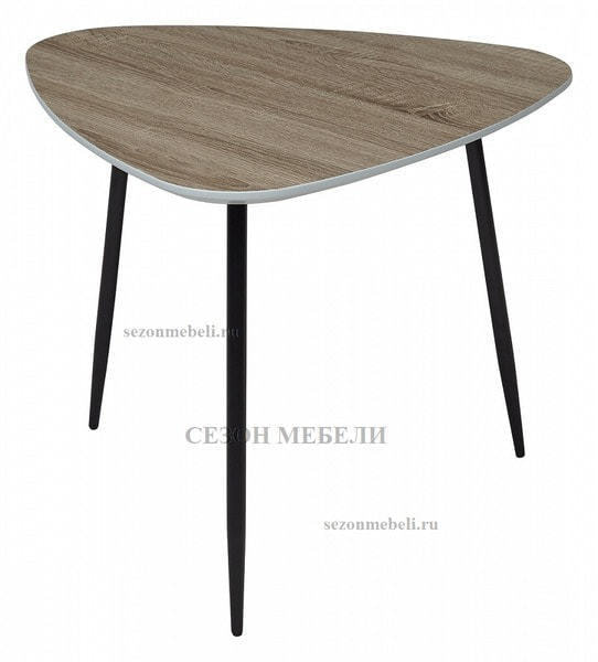 Стол журнальный WOOD 62S #4 дуб серо-коричневый винтажный (фото)