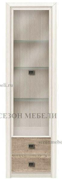 Витрина 1-дверная Коен REG1W2S ясень снежный/ сосна натуральная (фото)