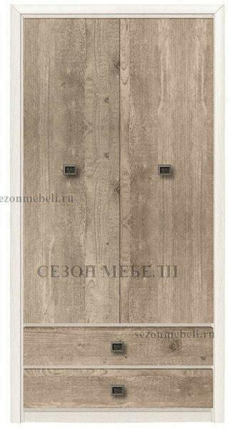 Шкаф платяной Коен SZF2D2S ясень снежный/ сосна натуральная (фото)