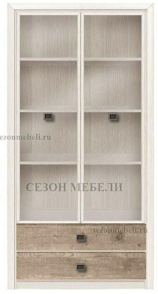 Шкаф Коен REG2W2S ясень снежный/ сосна натуральная