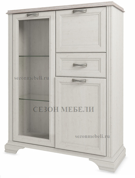 Шкаф с витриной Монако (Monako) 1V2D1S (возможна подсветка) (фото)