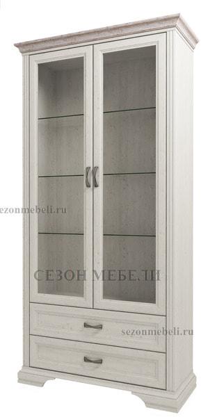 Шкаф с витриной Монако (Monako) 2V2S (возможна подсветка) (фото)