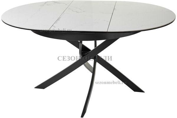 Стол ORBIT D110 мрамор/графит (фото)