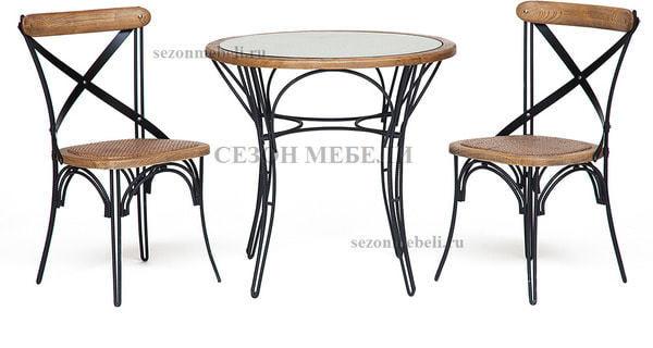 Обеденная группа Piemonte (Пьемонте) (стол+2 стула) (фото)