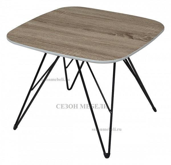 Стол журнальный WOOD82 #4 дуб серо-коричневый винтажный (фото)
