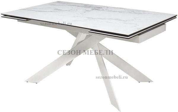 Стол SPYDER 160 KL-99 итальянская керамика/ белый каркас (фото)