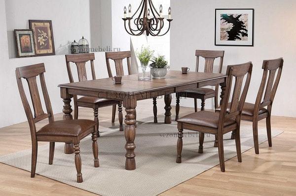Обеденная группа (стол LT T18332 и стулья LT C18476) (фото)