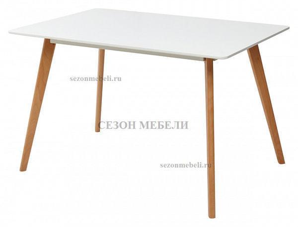 Стол ABELE 120 белый/массив бука (фото)