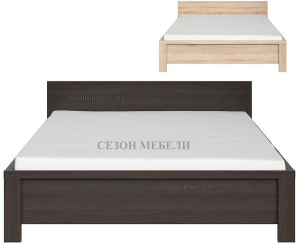 Кровать Каспиан LOZ140х200/ LOZ160х200 дуб сонома (без основания) (фото)