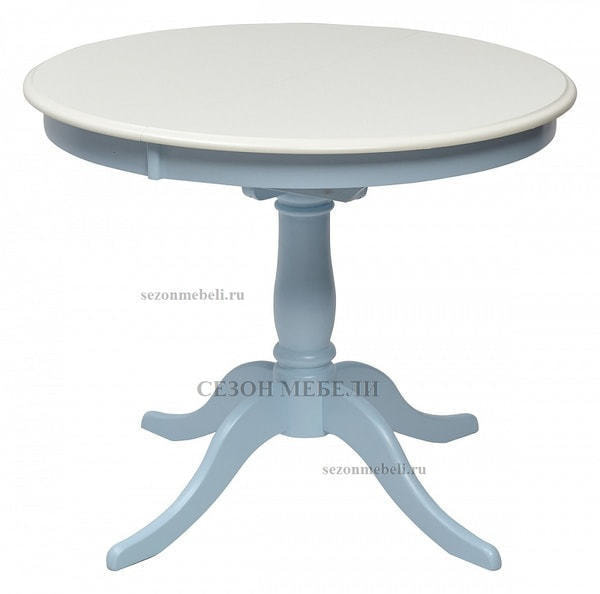 Стол TS Siena (SA-T4EX) Ivory white/ Blue (фото)