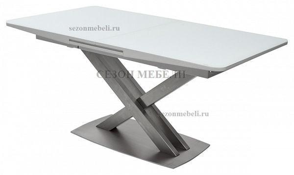 Стол CAROLINA 140 WHITE матовое стекло (фото)