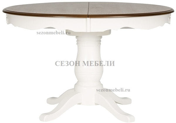 Стол Parisa (PA-T6EX) Ivory white+Antique pine (фото)