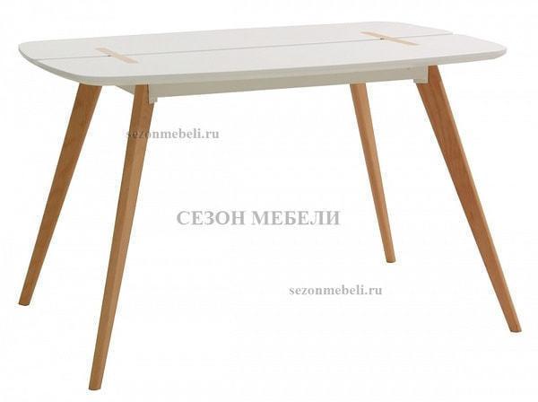 Стол OXALIS 120 белый/массив бука (фото)