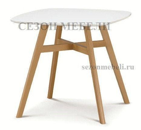 Стол TAGETES 80 белый/массив бука (фото)