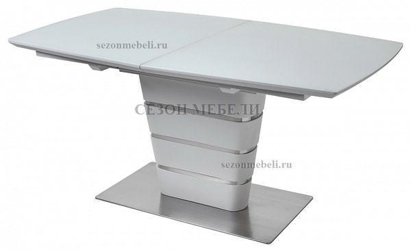 Стол CONCEPT 160 WHITE MATT GLASS матовый белый (фото)