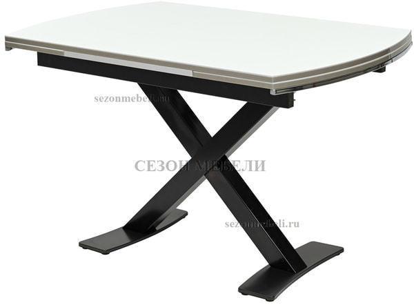 Стол KRIS BL 120 см белый / черный (фото)