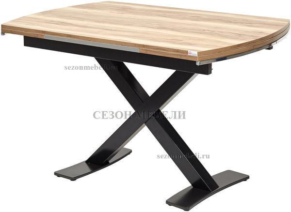 Стол KRIS TROPIC 120 см орех / черный (фото)