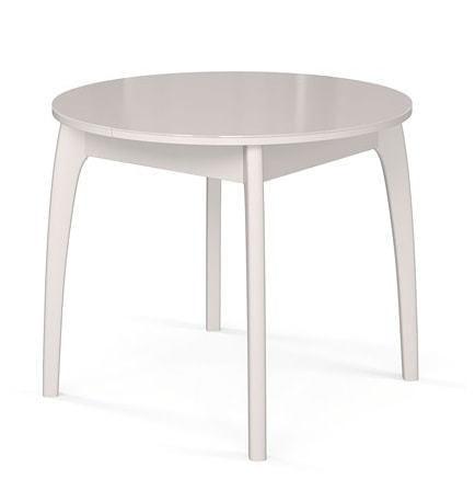 Стол №46 ДН4 белый/стекло белое (фото)