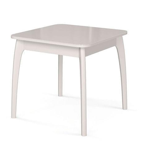 Стол №45 ДН4 белый/стекло белое (фото)