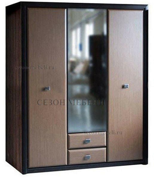 Шкаф Коен SZF3D2S венге магия/ штрокс темный (фото)