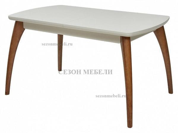 Стол MERCAN белый/ орех 120 см (фото)