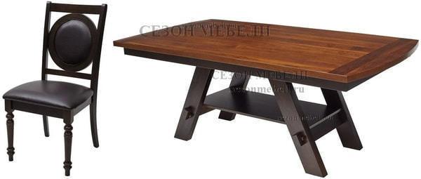 Обеденная группа стол GR OUDT-7842-WPH и стулья GR CCRA-393APU-S (фото)