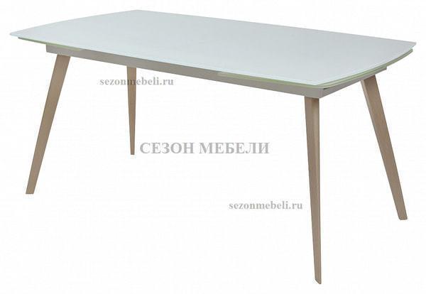 Стол ELIOT 120 Super white glass+Wood (фото)