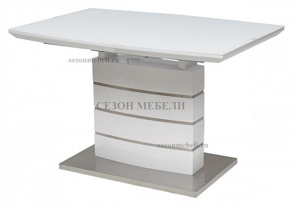 Стол DOVER 120 Белый, матовое стекло (фото)