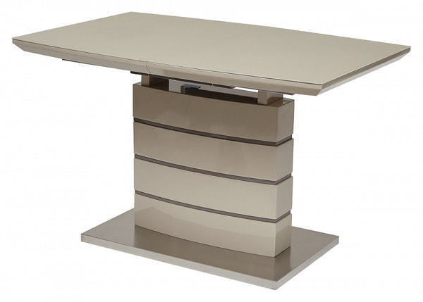 Стол DOVER 120 Шампань/Серый, матовое стекло (фото)
