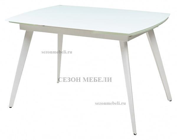 Стол ELIOT 120 FROSTED SUPER WHITE белое матовое стекло/ белый каркас (фото)