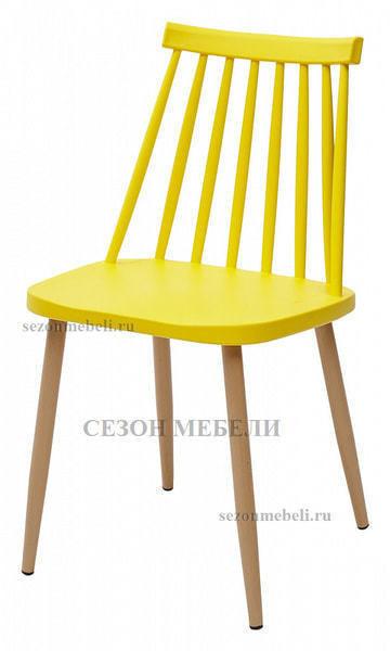 Стул EASEL желтый PP/металл ламинированный (фото)