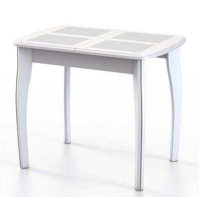 Стол Домино-1 МР белое дерево/домино белый (фото)