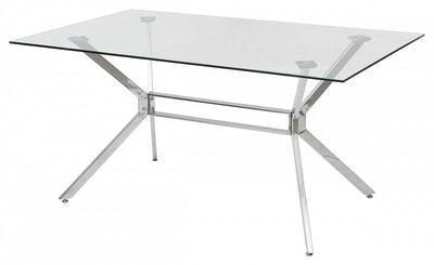 Стол SALERNO150 прозрачный (фото)