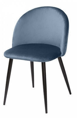 Стул MELODY пудровый синий, велюр G108-56 (фото)
