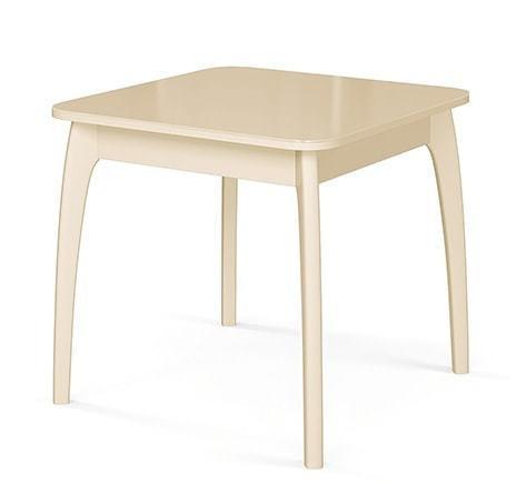 Стол №45 ДН4 слоновая кость/стекло бежевое (фото)