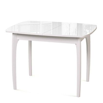 Стол №40 ДН4 белый/стекло белое (фото)