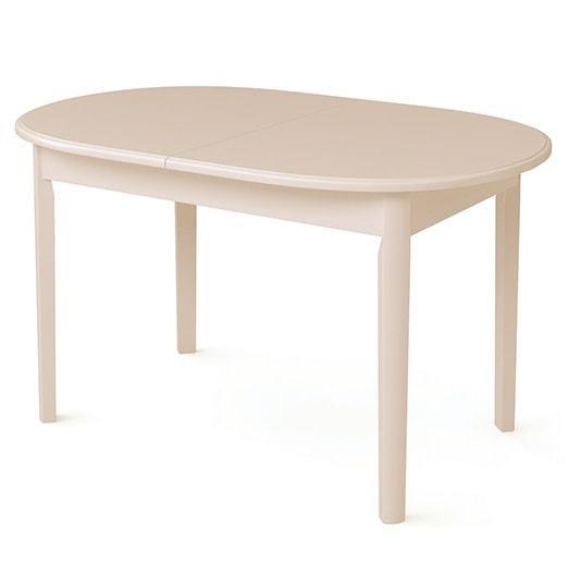 Стол обеденный овальный ВМ30 (слоновая кость)