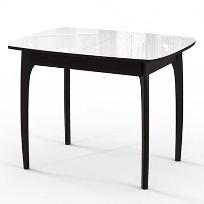 Стол №40 ДН4 венге/стекло белое (фото)